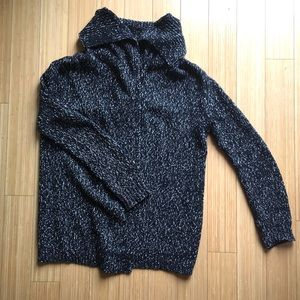 Theory wrap sweater, wool/cotton blend